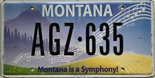GENUINE  Montana Is A Symphony! Speciality License Number Plate AGZ 635