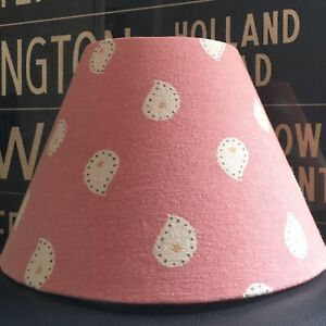 MADE TO ORDER LAMPSHADE SUSIE WATSON ROSE PINK MIKA FABRIC DRUM OR TAPERED