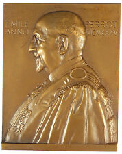 Science medicine EMILE PERROT Professor of Pharmacy bronze 58mm x 72mm by Rispal
