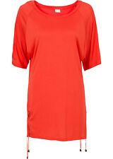 Bodyflirt - Damen Shirt mit Schnürung und Schlitzen mattorange Größe 36/38 NEU