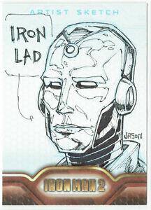 Iron Man 2 Movie Upper Deck 2010 Sketch Card 1/1 Artist Jason Keith Phillips
