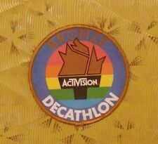 ~ Atari Video Game Vintage 80's Activision Patch - Decathlon Bronze Medal ~