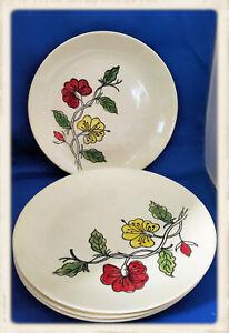 5 Vintage Blue Ridge Pottery Luna Dinner Plates