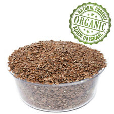 Organic Whole Flax Seeds Brown Grain Linseed Kosher Natural Premium Quality