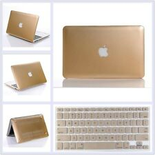 "Metallic Gold Hard Case+Keyboard Cover Skin For Apple MacBook Air Pro 11"" 13"" 15"