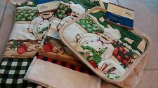 New Love to Cook Chef Potholder Mitt Towel Set 4 Cotton Blend Kitchen Multicolor