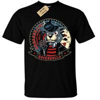 Rock n Rolla T-Shirt Mens greaser cat
