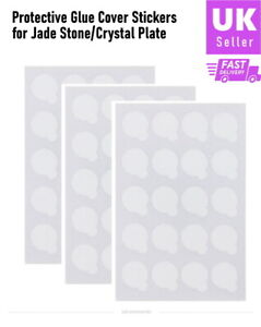 Jade Stone Protective Glue Cover Stickers for Eyelash Extension Adhesive