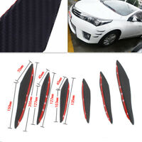 6Pc Carbon Fiber Front Bumper Lip Splitter Fins Body Spoiler Canard Splitter Kit