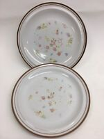 "Vintage Colonial Stoneware "" VIOLET "" Lot of 2  Dinner Plates 10 1/2"""