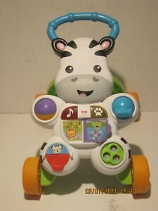 Fisher-Price Learn with Me Zebra Walker Two Ways to Play Teaches ABC's GREAT CND