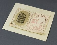 More details for 1830s rare early valentine card from sister to brother cameo-embossed paper lace