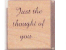 """GREAT IMPRESSIONS """"JUST THE THOUGHT""""  RUBBER STAMP"""