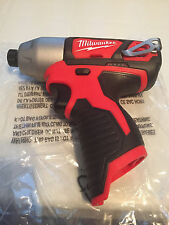 New Milwaukee 12v M12 Lithium  1/4-in Hex Impact Driver 2462-20