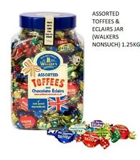 WALKER'S NONSUCH ASSORTED TOFFEES & CHOCOLATE ECLAIRS JARS 1.25 kg WEDDING EVENT