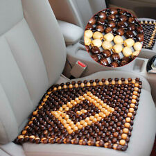 1x Natural Wood Beads Car Seat Cover Massaging Cool Cushion Interior Accessories