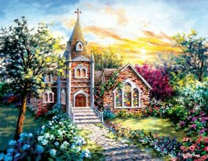 A Tranquil Setting 1000 Large Pc Jigsaw Puzzle Nicky Boehme Sunsout church holy
