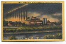 ONE OF THE MANY STEEL MILLS IN PITTSBURGH,PA STEEL CENTER OF THE WORLD -CT 1936