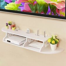 2 Tier Mensola Stoccaggio Ripiano Bianco Fiore Casa Decorazione Intagliati