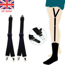 Y Style Men Elastic Band T Shirt Suspenders Stays Garters Holders Locking Clamps