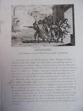 HEROISME de 8 soldats à la 13e Brigade. 28 ventose an 8. 19 avril 1800