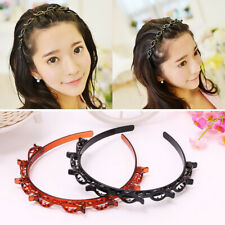 1/2PCS Double Hairstyle Hairpin Hair Accessories Black Brown With Clip Fan