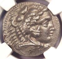 Alexander the Great III AR Tetradrachm Coin 336-323 BC - Certified NGC XF