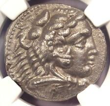 Alexander the Great III AR Tetradrachm Coin 336-323 BC - Certified NGC XF