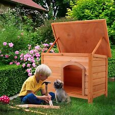 Wood Dog House Pet Shelter XL Kennel Weather Resistant Home Outdoor Ground