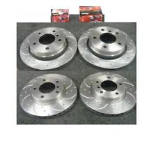 FORD MONDEO ST24 ST200 DRILLED GROOVED BRAKE DISC MINTEX PADS