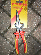 Eclipse VDE Bent Long Nose Pliers 8inch ac 1000v