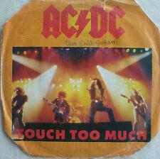 """7"""" 1980! AC/DC : Touch Too Much /nur für musicbox VG+?"""
