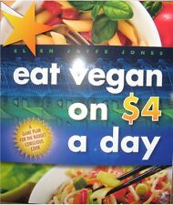Eat Vegan on $4.00 a Day 4 dollars Ellen Jaffe Jones Brand New Paperback WT65809