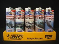 7 Bic Lighters Support The Troops Regular Size Disposable (Only 6 Designs)