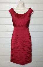 COAST Red Nikita Sleeveless Ruched Dress 12 BNWT Cocktail Evening Occasion