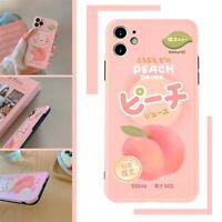 Cute Peach Drink Design Soft Slim Phone Case For iPhone 7 8 X XS XR 11 PRO MAX