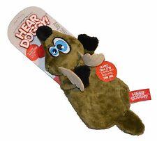 Quaker Hear Doggy Ultrasonic Flat Dog & Puppy Toy Super Soft Deer Green NEW