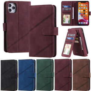 Luxury Flip Case For iPhone 12 Pro 11 XR XS 7 8 Plus Retro Wallet Leather Cover