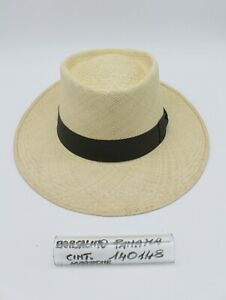 Cappello  Panama Quito-Unisex-Estivo- Cod.140148- Borsalino-Cinturino Marrone