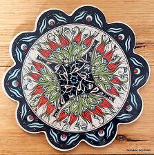 Turkish ceramic trivet - traditional Ottoman designs - quality - floral spray