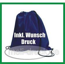 Rucksack Tasche Beutel bedrucken 6 verschiedenen Farben