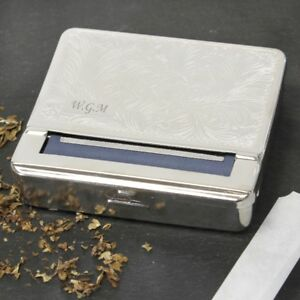 Personalised Engraved Cigarette Tobacco Rolling Tin Roll Up Smokers Gift Him Her