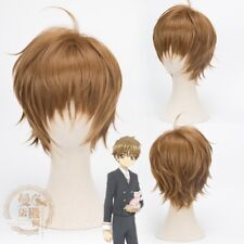 Card Captor Sakura CLEAR CARD Li Syaoran Cosplay Short Hair Wig Cos Prop Anime