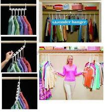 1 Set Kleiderbügel Wäschebügel Kleiderschrank Klappbar 13.5x2.5cm Weiß
