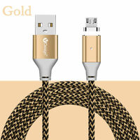 1M-3M 3in1 Nylon Braided LED Indicator Magnetic Type-C/IOS/Android Charger Cable