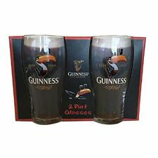 More details for guinness toucan 2 pack pint glass set
