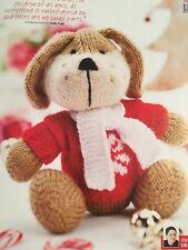 KNITTING PATTERN Rhubarb Dog Puppy Toy Christmas Jumper 18cm Tall Scarf PATTERN