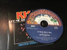 RARE CD Single  Kiss - Let Me Go Rock'n Roll / Hotter Than Hell   CASABLANCA NM