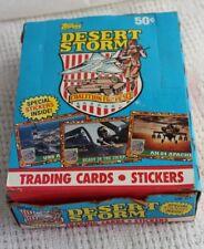 Topps Desert Storm Trading Cards Series 1 Coalition For Peace 36 Unopened Packs