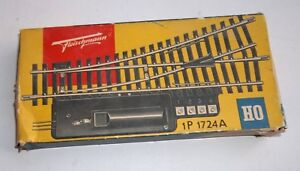 Pair of Fleischmann 1724A Track Switch Left - Electric